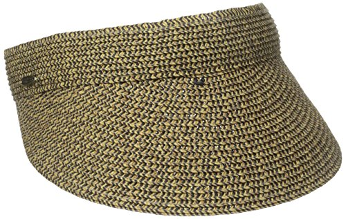 scala-womens-paper-braid-visor-coffee-black-one-size