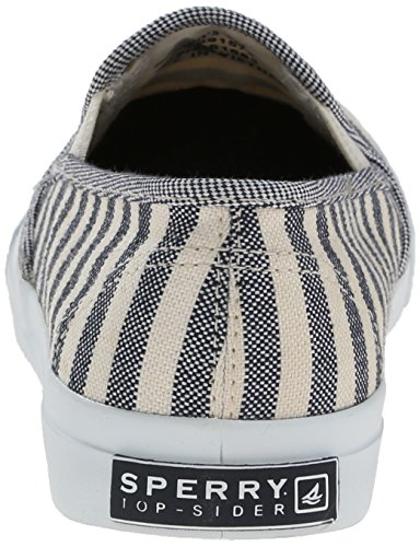 Sperry Breton Navy Womens Stripe Plimsoles On Shoes Casual Slip Seaside 7wdOEOqA