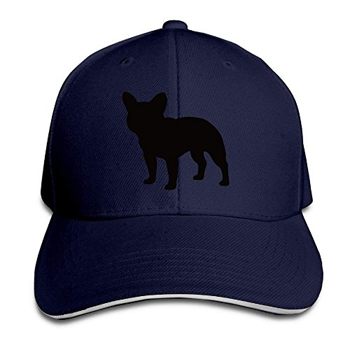 French Bulldog Cute Puppy Sandwich Cap Adjustable Hat Red Navy