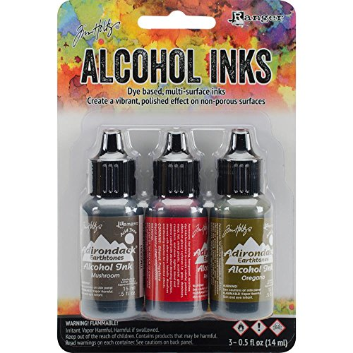 (Tim Holtz Adirondack Alcohol Ink 0.5oz Pack of 3 - Tuscan Garden)