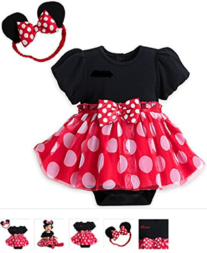 Disney - Minnie Mouse Red Costume Bodysuit for Baby - Size 18-24 months