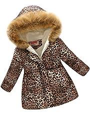 Soapow Meisjes Winter Jas Kinderen Hooded Katoen Parka Jas voor 3-12 Jaar Meisje