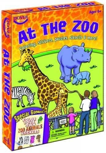 At the Zoo: Dover Fun Kit (Dover Fun Kits) (Kits Fun Dover)