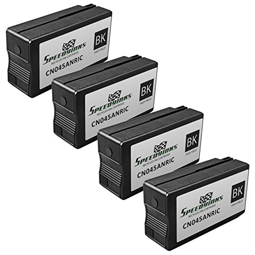 Speedy Inks - 4PK Remanufactured Replacement for HP 950XL CN045AN HY Black Ink Cartridge with Pigment Ink for use in OfficeJet Pro 251dw 276dw 8100 8600 8610 8620 8630