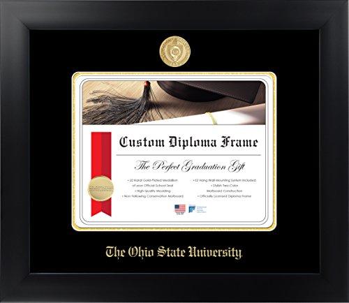 (Celebration Frames The Ohio State University 8½ x 11 Matte Black Finish Infinity Diploma Frame )