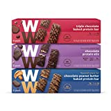 WW Chocolate Lovers Protein Variety Pack - Chocolate, Triple Chocolate & Chocolate Peanut Butter - Protein Snack Bars, 2-3 SmartPoints - 6 of Each Flavor (18 Count Total) - Weight Watchers Reimagined