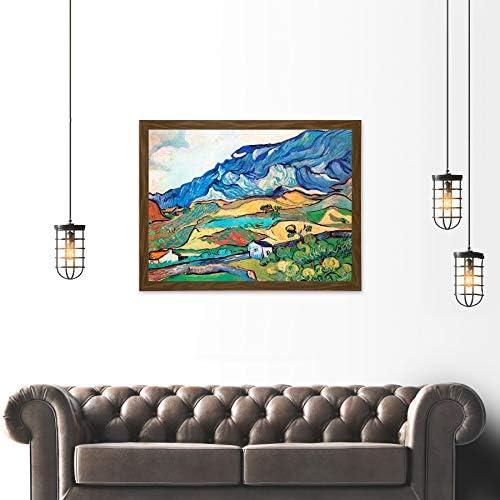 VAN GOGH LES ALPILLES LANDSCAPE SAINT REMY FRAME ART PRINT PICTURE 21 F12X1621