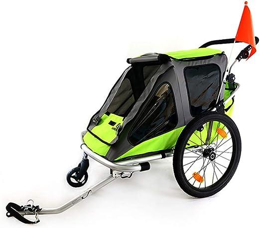 EVERAIE Remolque Bicicleta de niño Rueda 3-en-1 Doble 2 Asiento ...