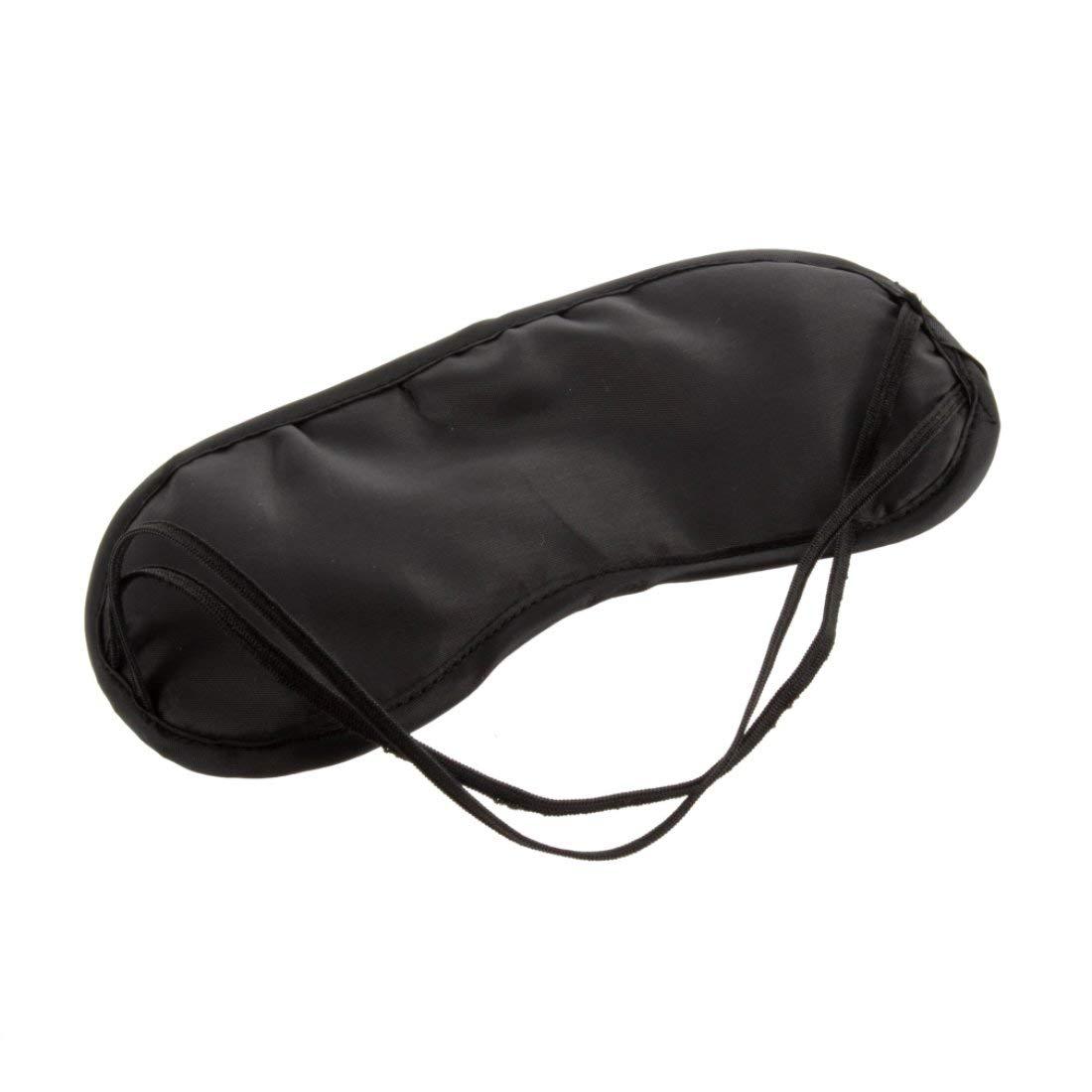 Eye Mask Comfortable Sleeping Mask for Rest Relax Travelling Fashionable Men Women Travel Sleep Aid Eye Mask Eye Patch - Black Formulaone