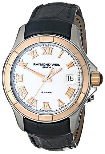 Raymond Weil Men's 2970-SC5-00308 Parsifal Analog Display Swiss Automatic Black Watch