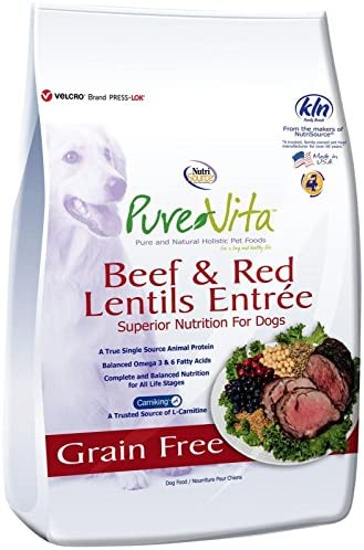 Nutri Source Pure Vita Grain Free Beef Red Lentil