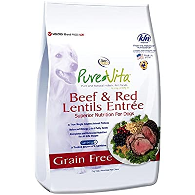 Nutri Source Pure Vita Grain Free Beef & Red Lentils, 25-Pound