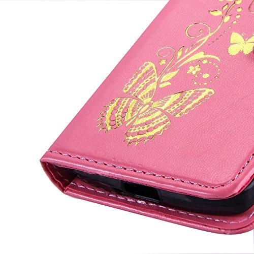 SRY-case Funda LG C40, Color sólido Funda de piel PU Funda retro Flip Funda caso cartera con correa de mano desmontable Ranura de efectivo tarjeta para LG C40 Leon H340 ( Color : Red , Size : LG C40 L Purple