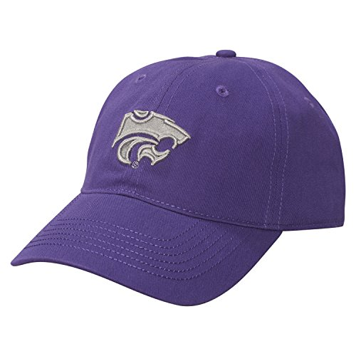 Ouray Sportswear NCAA Kansas State Wildcats Epic Washed Twill Cap, Adjustable Size, Purple (Cap Wildcats State)
