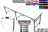 #3: Portable Folding Table w/ Dry Erase Surface & Markers - Adjustable Length (8 ft or 4 ft) Kids & Adult Party Table