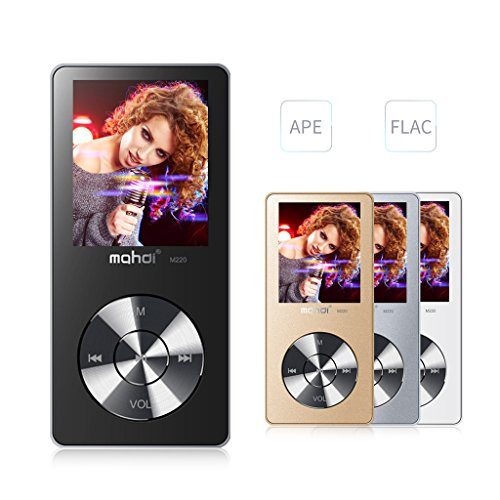 MYMAHDI 8GB Portable MP3 Player(Expandable Up to 128GB), Music Player/ One-key Voice Recorder/ FM Radio 70 hours playback with external speaker HD Headphone, Black