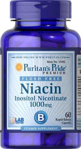 Pride Puritan niacine gratuit inositol Nicotinate 1000 mg-60 Capsules