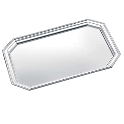 Bandeja octogonal 23 x 17 x 4 cm plata Plated bañado en Top Procesamiento