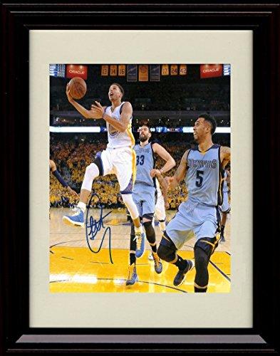 - Framed Stephen Curry Autograph Replica Print - Golden State Warriors
