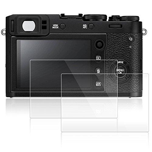 AFUNTA Screen Protectors Compatible Fujifilm X100F X-E2S X100T X-E2 X-100F X-100T, 2 Pack Anti-Scratch Tempered Glass Protective Films for DSLR Digital Camera