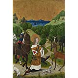 Canvas Prints Of Oil Painting 'Workshop Of The Master Of The Life Of The Virgin The Conversion Of Saint Hubert Left Hand Shu' 24 x 36 inch / 61 x 92 cm , Polyster Canvas, Foyer, Garage And decoration