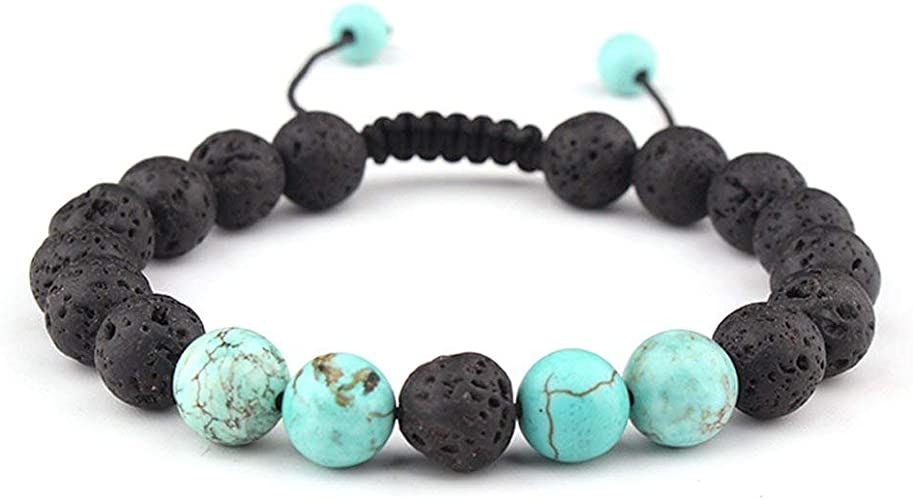 Diffuser Bracelet Essential Oil Diffused Bracelet Essential Oil Lava Stone Bracelet Turquoise on Lave Stone Unisex Bracelet Dec Birthstone