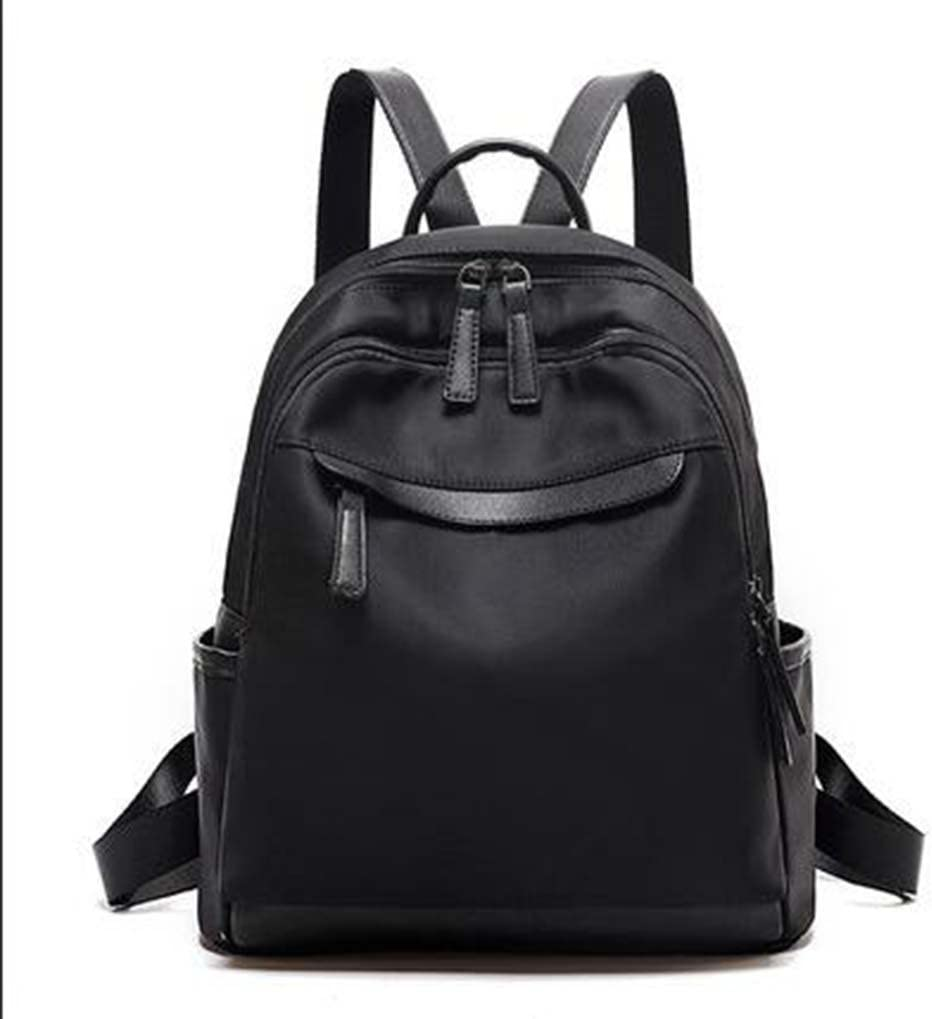 Backpack Female Backpack Korean Version of The Tide Oxford Cloth Canvas Fashion Casual Wild Lady Travel Bag,Black
