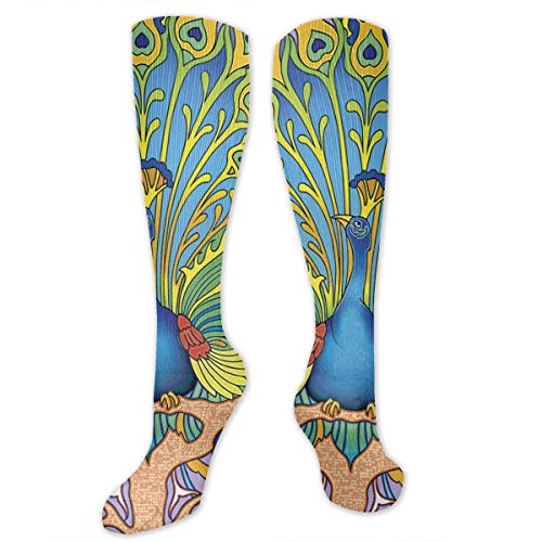 - CGHVS Art Nouveau Peacock Compression Socks for Women and Men - Best Medical,for Running, Athletic, Varicose Veins, Travel.