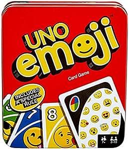 Mattel Games UNO Tin Emoji Card Game ( Exclusive)