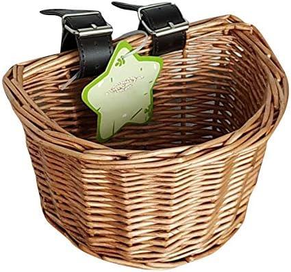 自転車かご 自転車用バスケット ハンドルを使う フロント取り付けタイプ かごバスケット 藤風