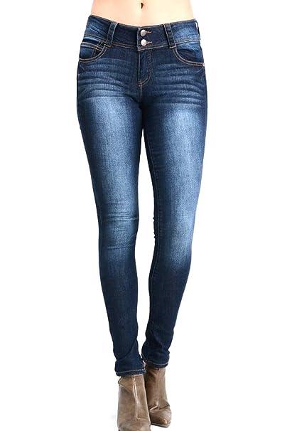 Amazon.com: Nine Planet Pantalones vaqueros de cintura alta ...