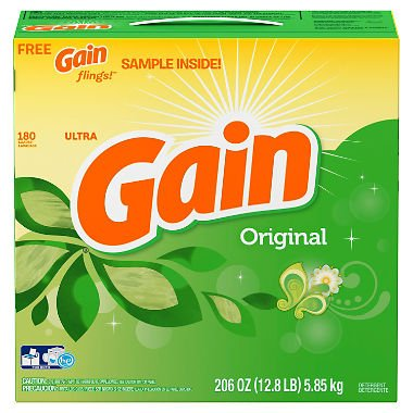 Gain Ultra Powder Laundry Detergent - Original - 206 oz. - 180 loads - (Original from manufacturer - Bulk Discount available)