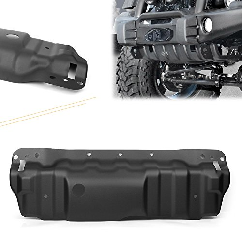 GZYF Black Front Bumper Skid Plate for 2007-2018 JEEP WRANGLER JK Rubicon 10th Anniversary Only