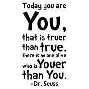 NYKKOLA Dr Seuss Today You Are You Wall Art Vinyl Decals Stickers Quotes and Sayings Home Art Decor Decal Love Kids Bedroom