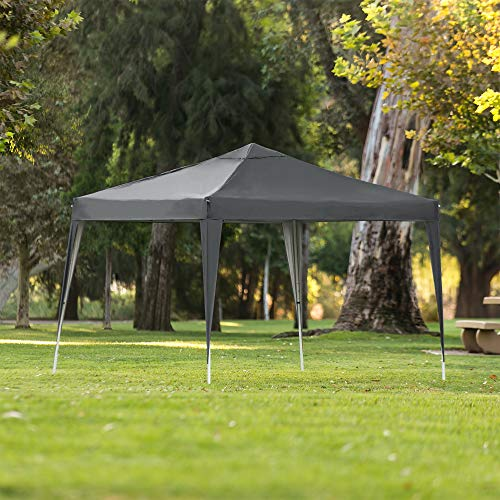 Best Choice Products 10x10ft Outdoor Portable Adjustable Instant Pop Up Gazebo Canopy Tent w/Carrying Bag Dark Gray