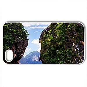Ao-Nang,Thialand - Case Cover for iPhone 4 and 4s (Beaches Series, Watercolor style, White)