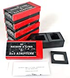 BAUSCH and LOMB 2X2 ADAPTERS for Cardboard Mount 35MM Slides, 5 Boxes of 20 (100)