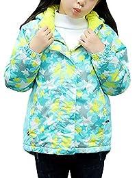 Zhhlinyuan Kids Waterproof Fleece Ski Winter Jacket Coat Windbreaker Printed