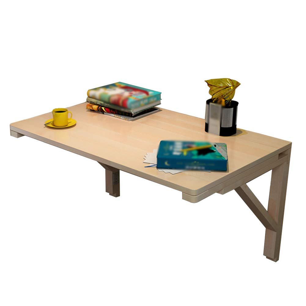 80x40cm Wall-Mounted Table, Dining Table Desk, Pine Wood Folding Computer Desk Tables, Size Optional (Size   80x40cm)