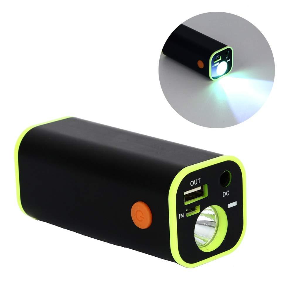 USB 18650 Akku-Ladehülle leistungsstarke wiederaufladbare Taschenlampe tragbare Powerbank Tasche mit Stoffbeutel