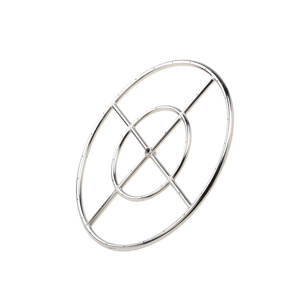 Stanbroil 12'' Round Fire Pit Burner Ring, 304 Series Stainless Steel, BTU 92,000 Max