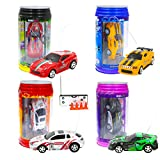 WLtoys Mini Coke Racer Speed Radio Remote Control Micro Racing Car Hobby Vehicle Toy Gift With LED Color by Random 1 PCS(1 frequency by random)