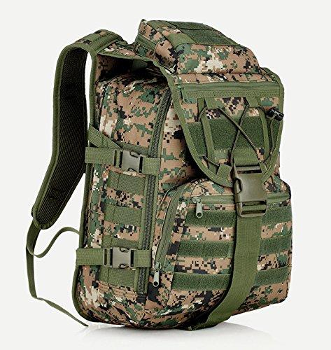 sohodoo X7 Outdoor tactics Oxford mochila de tela de gran capacidad para senderismo y acampada, Army grreen MC-05