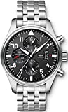 IWC Men's Swiss Automatic Stainless Steel Casual Watch, Color:Black (Model: IW377704)