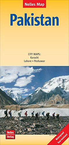 Pakistan, 2015 Map (English, French and German Edition)