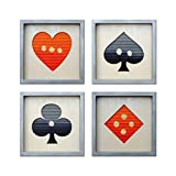 Playing Cards - A set of Four Artworks - Ready to Hang