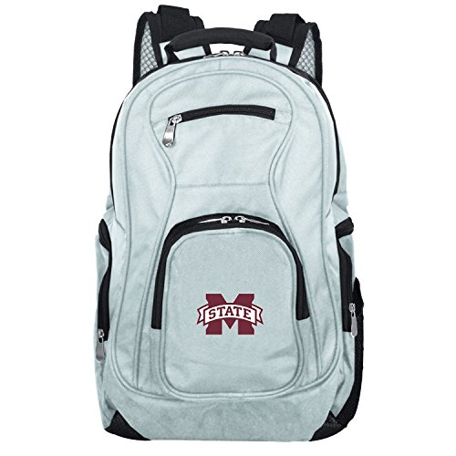 NCAA Mississippi State Bulldogs Voyager Laptop Backpack, 19-inches, Grey - Mississippi State Bulldogs Gear