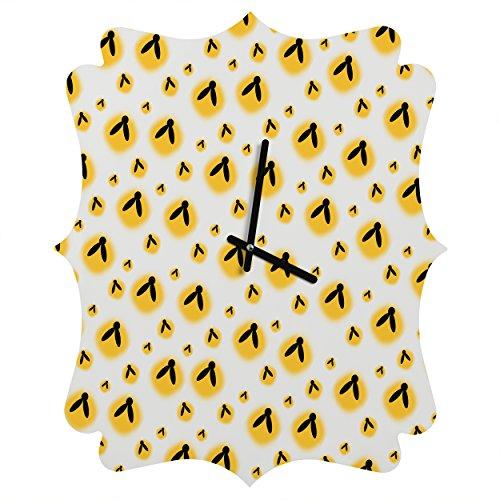 Deny Designs Allyson Johnson, Firefly Pattern, Quatrefoil Clock, Medium -
