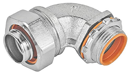 1-1/2 Inch Zinc Plated Liquid Tight 90 Degree Connector With Insulated Throat-1 per case
