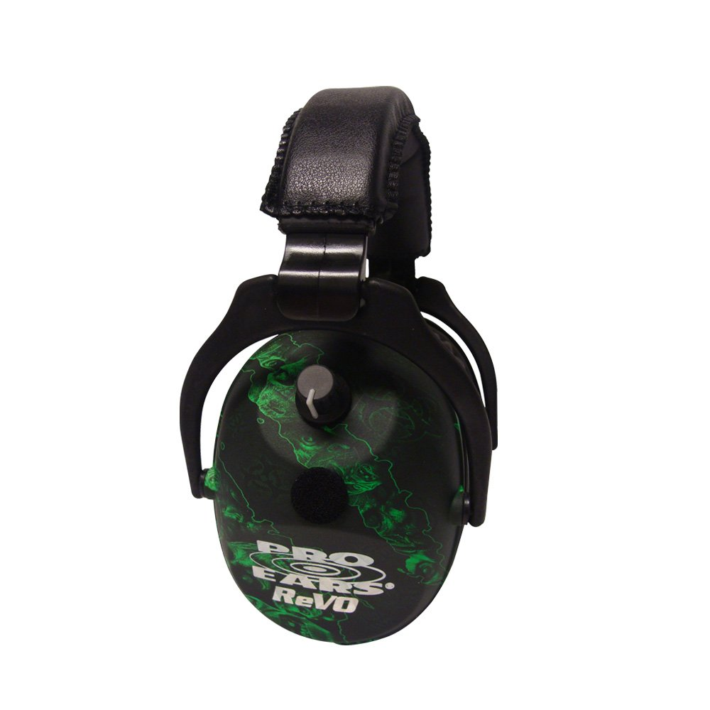 Pro Ears - ReVO - Electronic Hearing Protection and Amplification - NRR 25 - Youth and Women Ear Muffs - Zombie